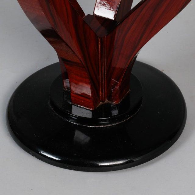 Brown Art Deco Round Palasander Table on Pedestal Base For Sale - Image 8 of 8