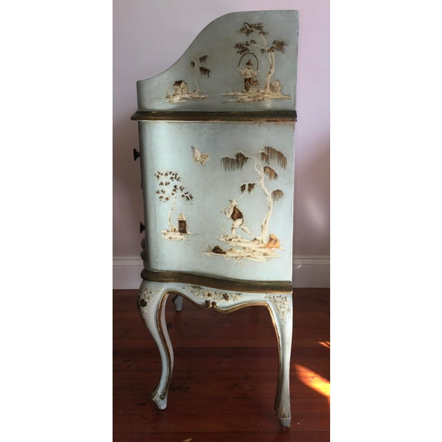 18th/19th Century Venetian Rococo Decoupage & Painted Chinoiserie Writing Desk For Sale - Image 6 of 13