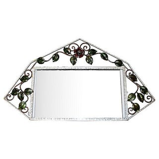 French Iron Art-Deco Mirror For Sale