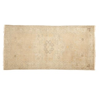 "Vintage Distressed Oushak Rug Runner - 2'11"" x 5'9"" For Sale"