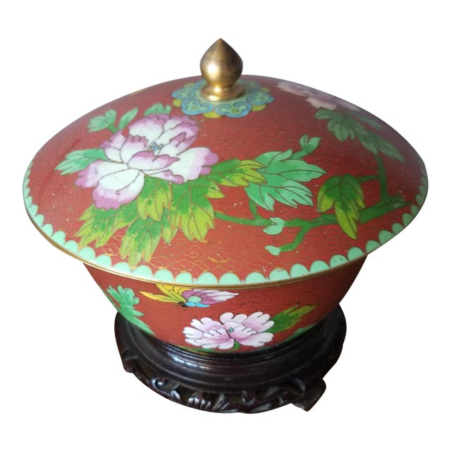 Chinese Cloisonne Bowl on Stand - Image 1 of 11