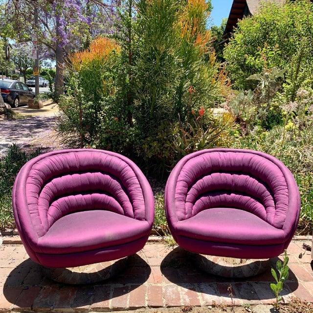 Vintage Vladimir Kagan Crescent Chairs, Unmarked - a Pair For Sale - Image 9 of 13