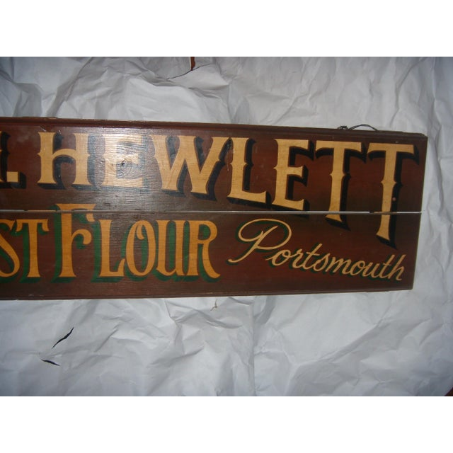 1960s English Wood Shop Sign For Sale - Image 5 of 8