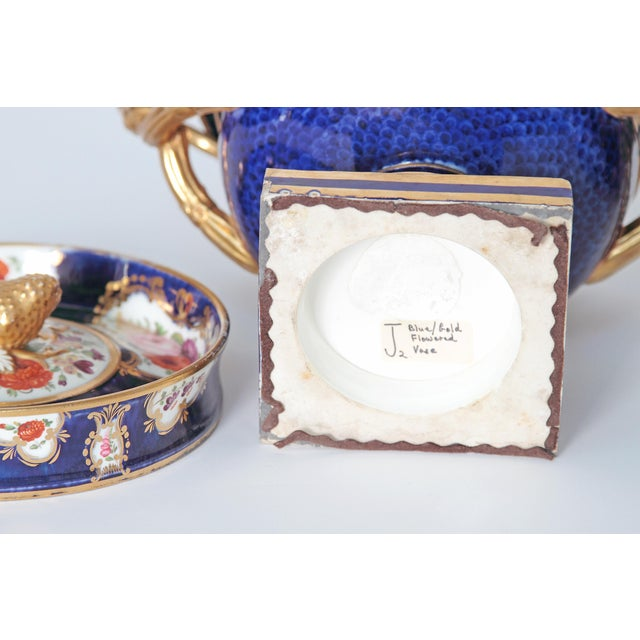 Pair of 19th Century English Porcelain Fruit Coolers With Covers For Sale - Image 12 of 13