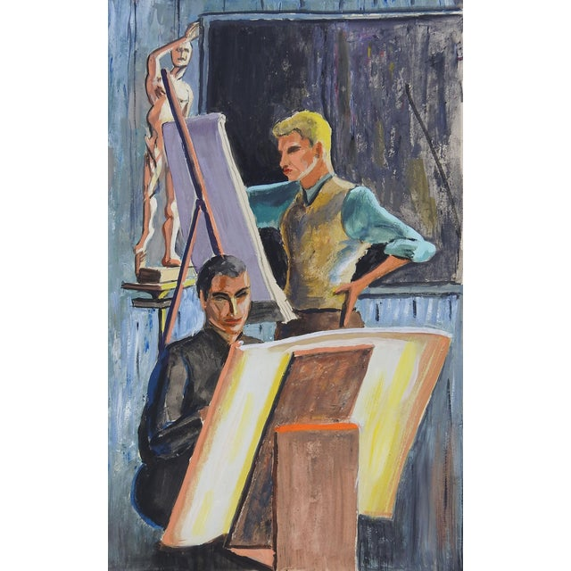 Art Students in Studio Painting For Sale