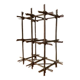 Mid Century Modern Vintage Abstract Metal Wire Table Sculpture For Sale