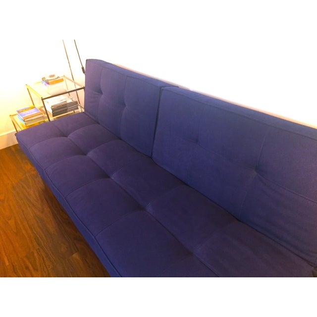 ABC Carpet & Home Abc Carpet & Home Crashpad Divided Daybed Sofa in Navy For Sale - Image 4 of 11