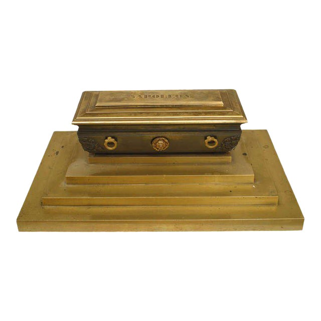 19th Century French Empire Inkwell in Memoriam of Napoleon I For Sale