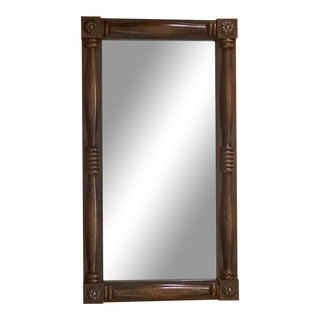 Antique 1930's Maple Wood Mirror For Sale