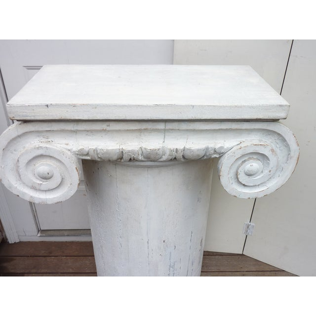 Column Pedestal Consoles - A Pair For Sale - Image 4 of 6