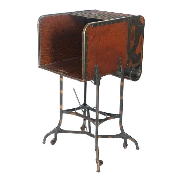 Early 1900s American Industrial Roll Top Desk/Table by Toledo - Image 1 of 6