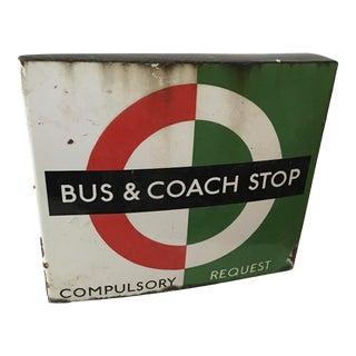 1950s Vintage London Transport Enamel Bus Stop Bracket For Sale