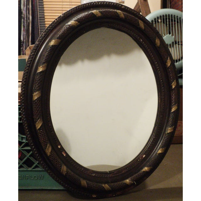 Antique Oval Hanging Mirror - Image 4 of 11