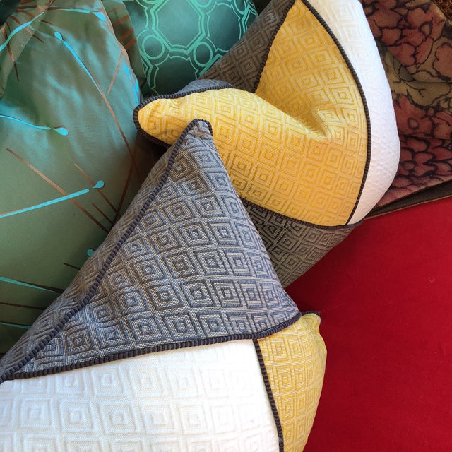 Custom Pillows in Jim Thompson Outdoor Fabric - A Pair - Image 7 of 9