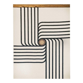 Bauhaus - Retro Swirl Mid-Century Inspired Wall Hanging For Sale