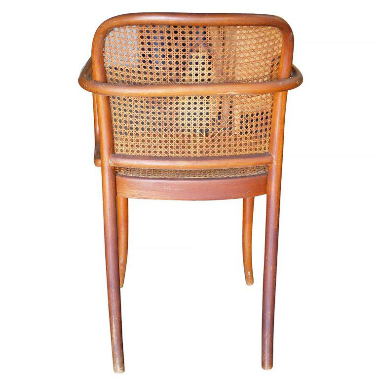 Beech Josef Hoffmann No 811 Bentwood Cane Chair By Thonet  Set Of 4 For Sale