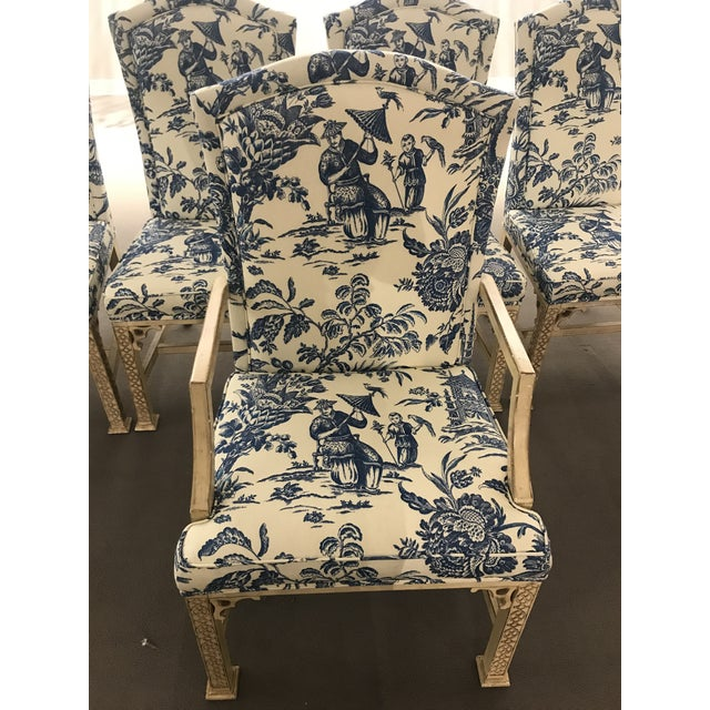 1990s Vintage Century Chinoiserie Chippendale Dining Chairs- Set of 8 For Sale In Detroit - Image 6 of 11