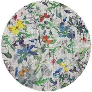 "Nicolette Mayer Garden Fantasia 16"" Round Pebble Placemats, Set of 4 For Sale"