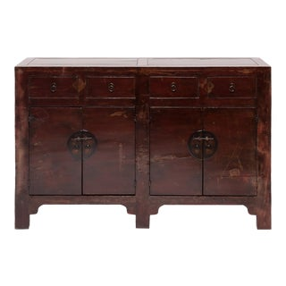 19th Century Chinese Red Lacquer Coffer For Sale