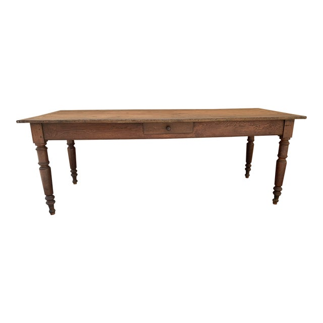 Antique French Farm House Dining Table For Sale