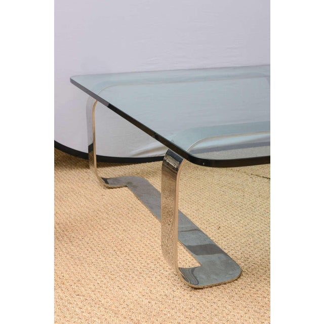 """Gary Gutterman Rare and Sculptural Gary Gutterman """"Odyssey"""" Coffee Table in Polished Steel For Sale - Image 4 of 10"""