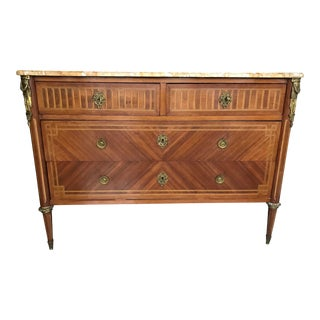 19th Century Louis XVI Inlaid Commode For Sale