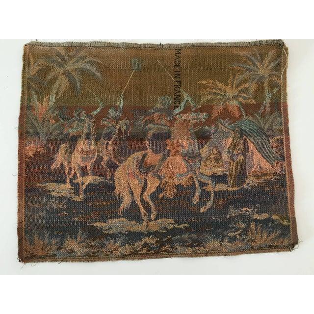 1940s Orientalist Arabs on Horse Hunting Scene Tapestry For Sale - Image 5 of 7