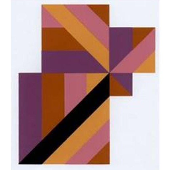 Anton Stankowski Classic Abstract Serigraph, Limited Edition, 1997 Classic abstract serigraph by important German artist...