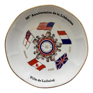 French 50th Anniversary D-Day Porcelain Plate 1944-1994
