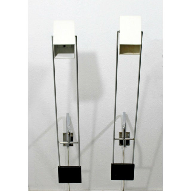 Chrome Mid Century Modern Pair Sonneman Adjustable Chrome Light Fixtures Sconces- A Pair For Sale - Image 8 of 8