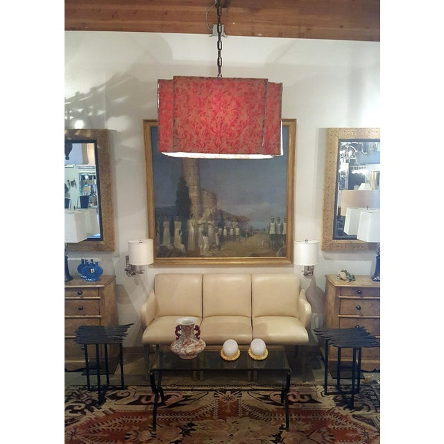 Fabric Modern Draped Chandelier in Vintage Fortuny Fabric by Paul Marra For Sale - Image 7 of 11