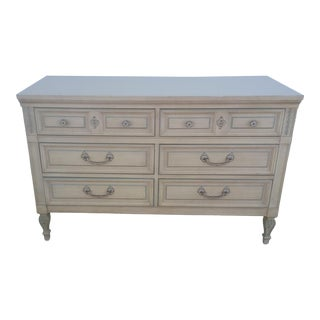 Late 20th Century Dixie Furniture French Country Double Dresser For Sale
