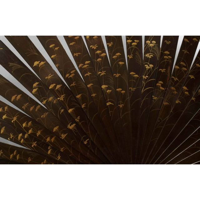 Asian Japanese Monumental Exhibition Quality Folding Fan For Sale - Image 10 of 11
