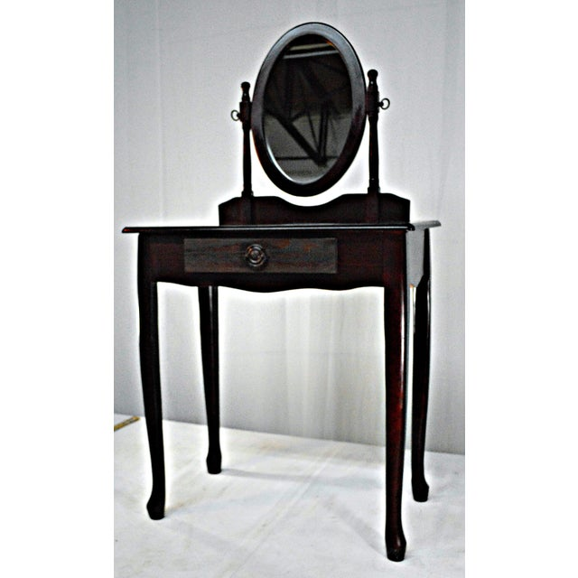 Brown Cuban Mahogany Vanity For Sale - Image 8 of 10