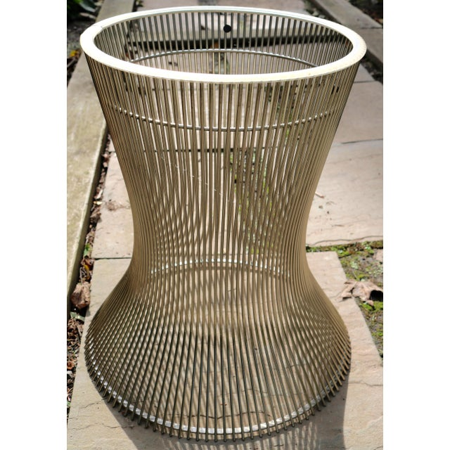 Marble 1960s Mid-Century Modern Warren Platner Marble Top Table For Sale - Image 7 of 8