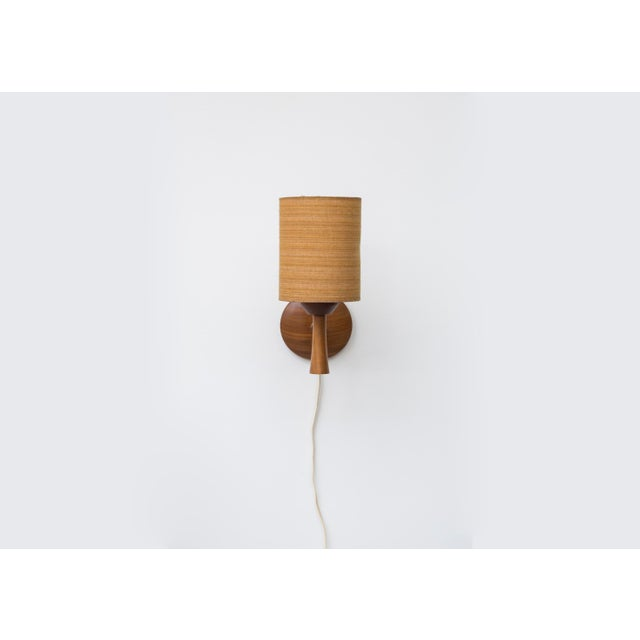 Mid-Century Teak and Brass Wall Lamp - Image 3 of 11