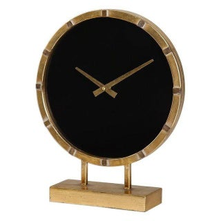Gold Deco Mantel Clock