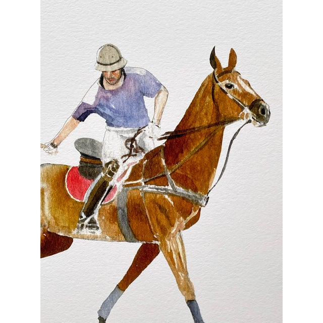 Inspired by Felix's appreciation of the horse's strength, grace, and vitality, this print of a polo player brings the...
