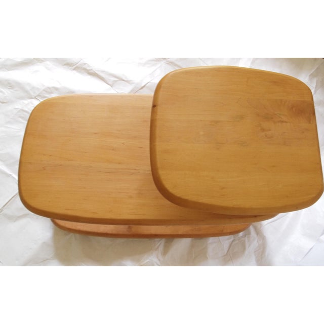 1940's Heywood Wakefield Tiered Surfboard Table For Sale - Image 5 of 7