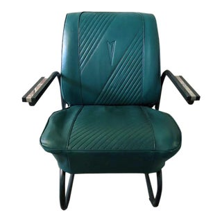 1964 Emerald Green Pontiac Gto Refurbished Leather Roadster Chair For Sale
