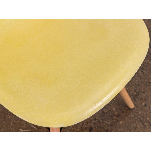 1960s Canary Yellow Eames Shell Chair on Maple Dowel Base for Herman Miller For Sale - Image 5 of 8