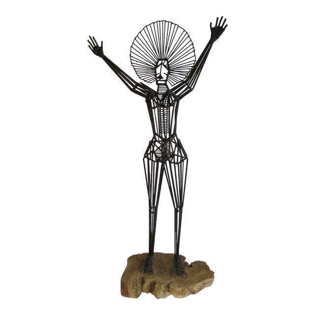 Mid-Century Abstract Figurative Metal Sculpture - Image 1 of 9