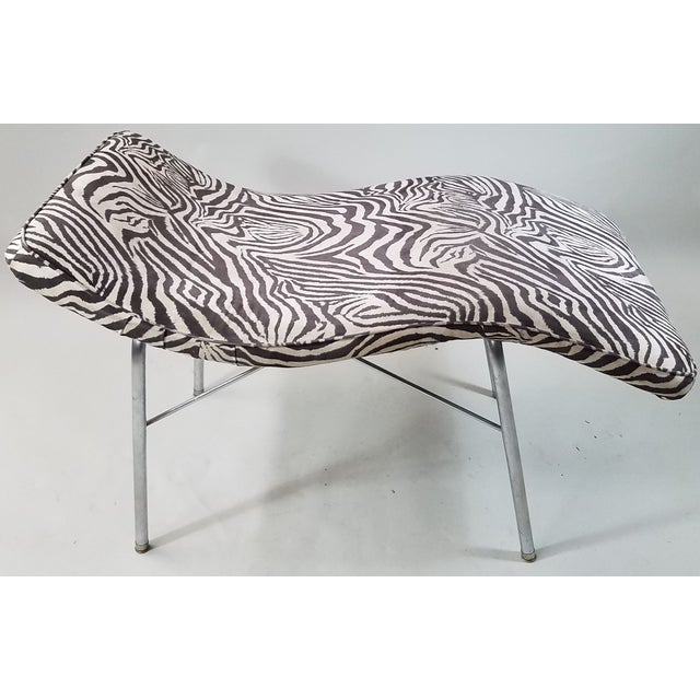 Vintage Scupltural Chaise Lounge - Image 4 of 6