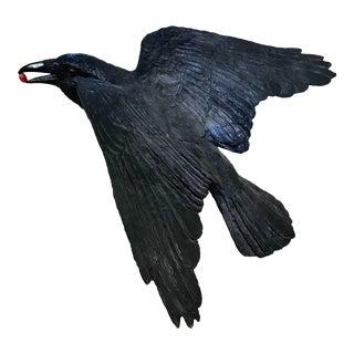 Contemporary Raven Bronze Sculpture by Jim Eppler For Sale