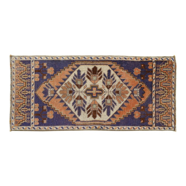 Hand Knotted Door Mat, Entryway Rug, Bath Mat, Kitchen Decor, Small Rug, Oushak Rug For Sale