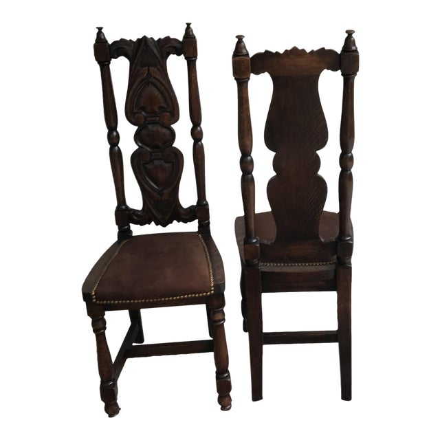 Antique Spanish Chairs - A Pair - Image 1 of 4