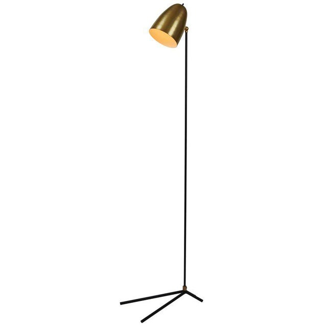 """""""Oro"""" Brass and Metal Floor Lamp For Sale - Image 12 of 12"""