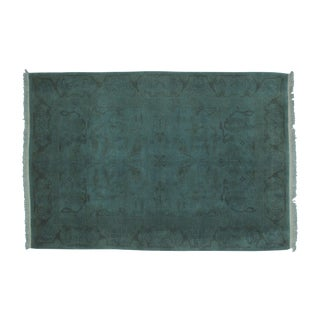 "Leon Banilivi Over-Dyed Green Wool Rug - 6' X 4'3"" For Sale"