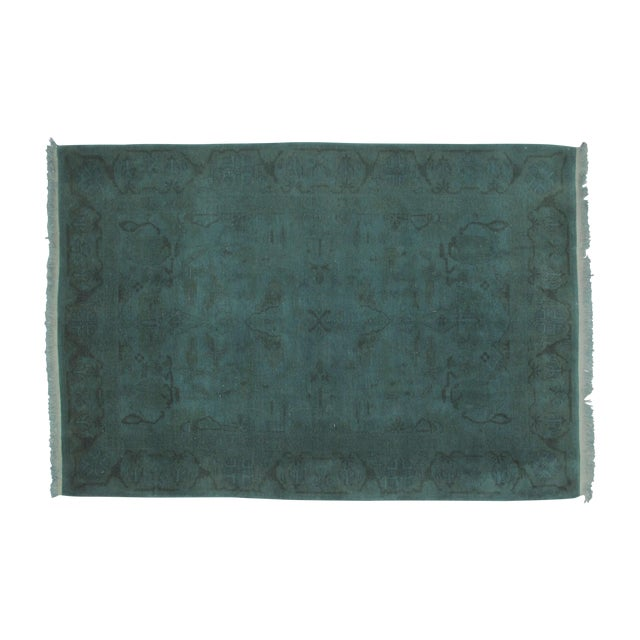 """Leon Banilivi Over-Dyed Green Wool Rug - 6' X 4'3"""" - Image 1 of 5"""