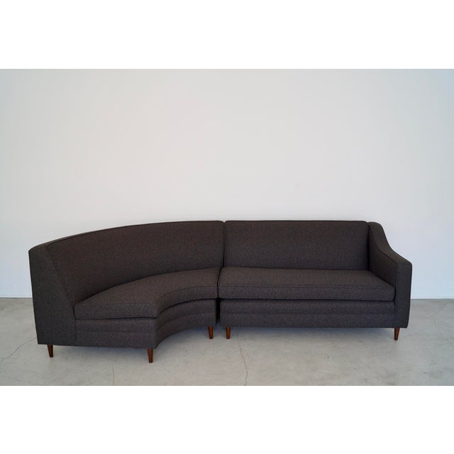 Mid-Century Modern Reupholstered 3-Piece Sectional Sofa For Sale - Image 11 of 13